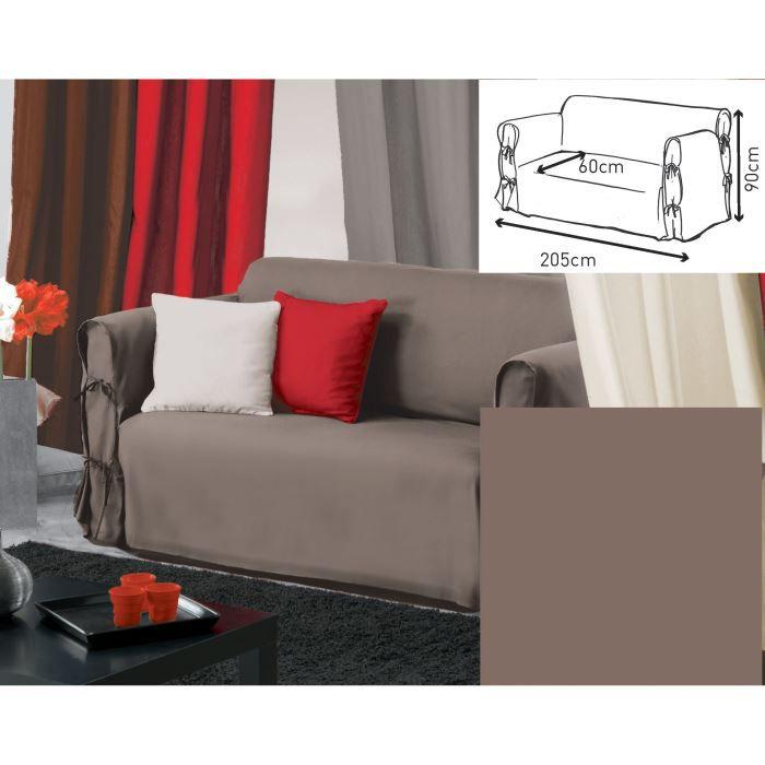 housse de canap 90x205 panama taupe achat vente housse de canap cdiscount. Black Bedroom Furniture Sets. Home Design Ideas