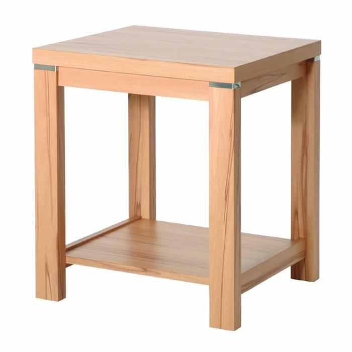 Table d 39 appoint en mdfcoloris coeur d 39 h tre l4 achat for Table d appoint jardin