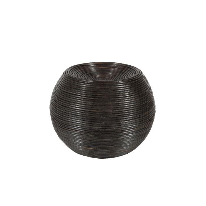pouf en c ur de rotin pouf nadine achat vente pouf poire cdiscount. Black Bedroom Furniture Sets. Home Design Ideas