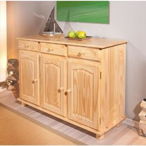 meuble bas en pin achat vente meuble bas en pin pas cher cdiscount. Black Bedroom Furniture Sets. Home Design Ideas