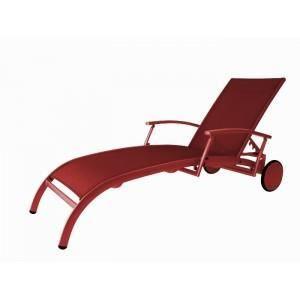 Bain de soleil lugo rouge rouge achat vente chaise longue transat bain - Bain de soleil rouge ...