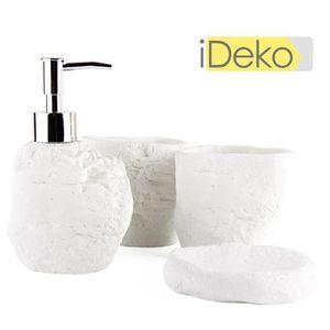 set accessoires ideko set accessoires salle de bain 4 pieces en - Vitrine Magique Accessoire Salle Deau