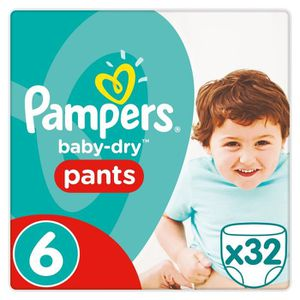 COUCHE PAMPERS Baby Dry Pants Taille 6 - 16 kg et+ - 32 c