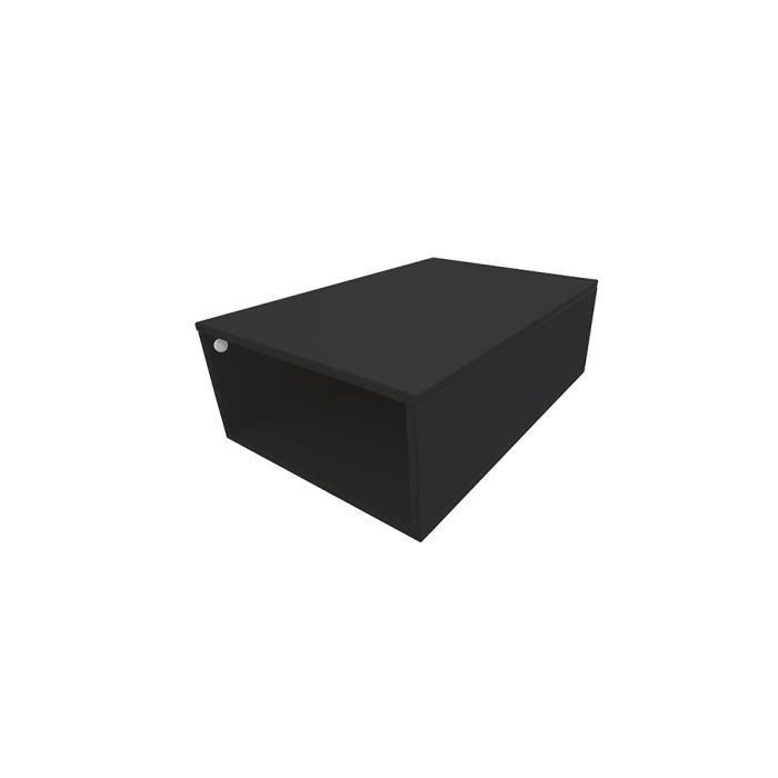Cube de rangement bois largeur 75 cm achat vente petit meuble rangement c - Cube de rangement noir laque ...