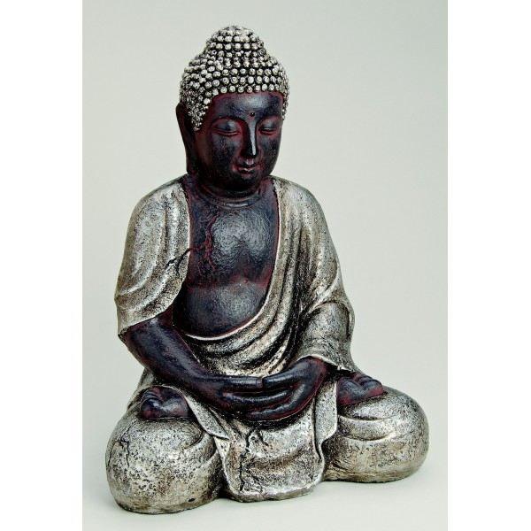 gros bouddha assis en r 233 sine achat vente statue statuette cdiscount