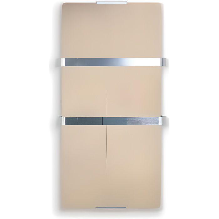 Radiateur s che serviette lectrique 600 watts zafir v600t br verre dor achat vente seche for Radiateur vertical electrique verre