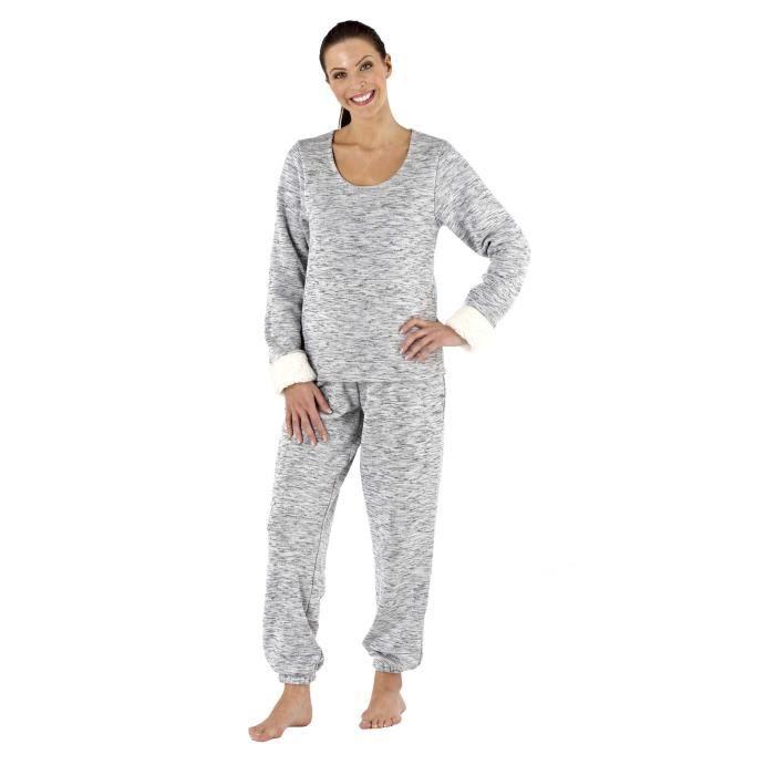 hope 176 ensemble de pyjama doux luxe hiver tenue de nuit femme gris achat vente chemise de. Black Bedroom Furniture Sets. Home Design Ideas