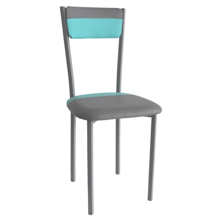Chaise de salle a manger gris bleu 400 x 450 x 890 mm for Chaise de salle a manger confortable