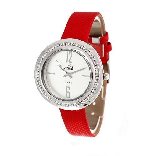 montre femme rouge so charm orn e de swarovski rouge achat vente montre les soldes sur. Black Bedroom Furniture Sets. Home Design Ideas