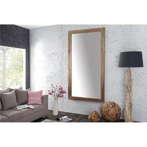 Miroir avec cadre en bois ODYL bois clair  100x200