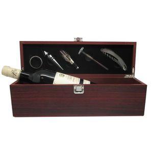 COFFRET CADEAU VIN Coffret Vin 5 accessoires + Bordeaux