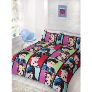 housse de couette king size achat vente housse de. Black Bedroom Furniture Sets. Home Design Ideas