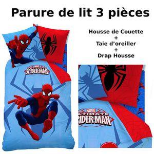 Parure de drap spiderman achat vente parure de drap - Housse de couette spiderman conforama ...