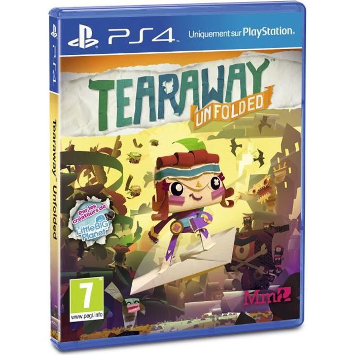 tearaway unfolded jeu ps4 achat vente jeu ps4 tearaway. Black Bedroom Furniture Sets. Home Design Ideas