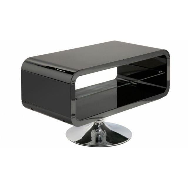 meuble tv design laqu e noir pivotant 360 achat. Black Bedroom Furniture Sets. Home Design Ideas