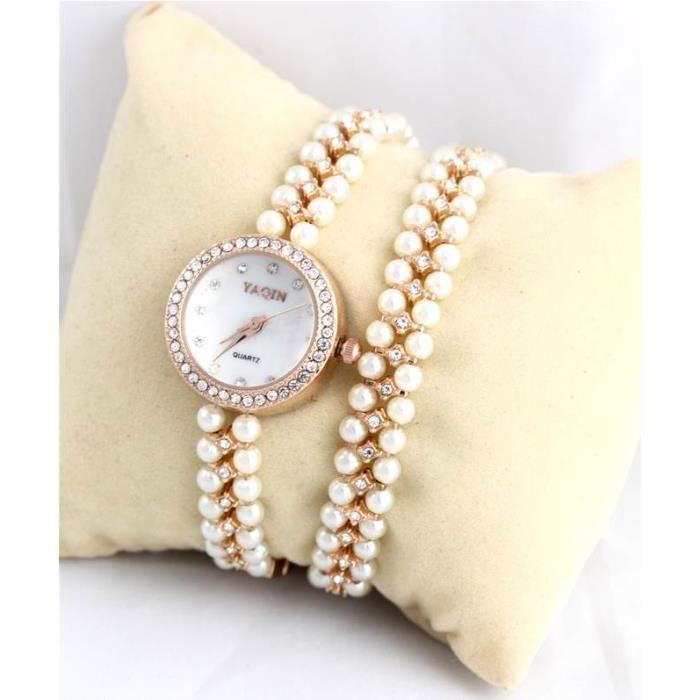 montre femme double bracelet perles 1689 perle achat vente montre cdiscount. Black Bedroom Furniture Sets. Home Design Ideas