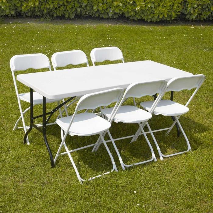 Ensemble table et chaises pliantes de jardin achat - Table et chaise de salon ...