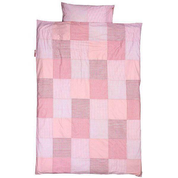 Housse de couette enfant en patchwork rose 140 x 200 cm - Housse de couette pour lit 140 ...