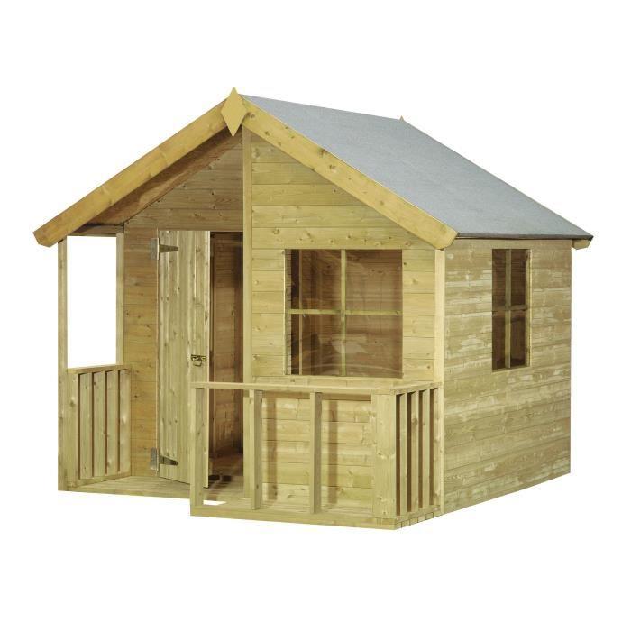 cerland maisonnette bois pour enfant loulou achat vente maisonnette ext rieure cdiscount. Black Bedroom Furniture Sets. Home Design Ideas