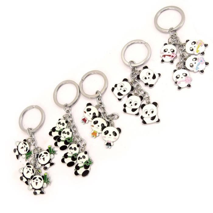 set de 5 porte cl s pandas tutti frutti achat vente porte cl s set de 5 porte cl s panda. Black Bedroom Furniture Sets. Home Design Ideas