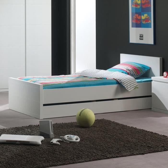 paris prix lit enfant lara blanc achat vente lit complet paris prix lit enfant la. Black Bedroom Furniture Sets. Home Design Ideas