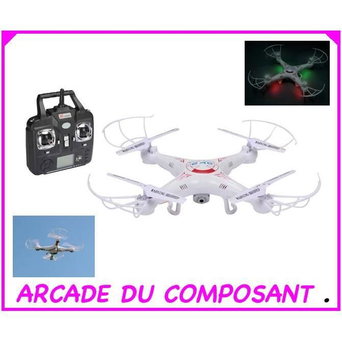 drone quadricoptere avec camera hd achat vente drone. Black Bedroom Furniture Sets. Home Design Ideas