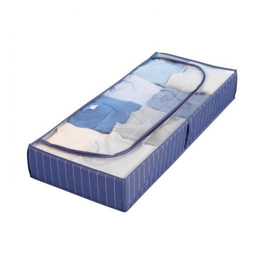 housse de rangement sous lit bleu achat vente housse. Black Bedroom Furniture Sets. Home Design Ideas