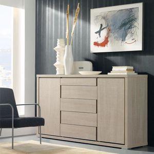 buffet bois clair achat vente buffet bois clair pas cher cdiscount. Black Bedroom Furniture Sets. Home Design Ideas