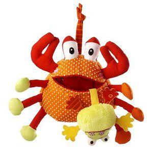 PELUCHE Peluche Hochet - Oscar le crabe gourmand