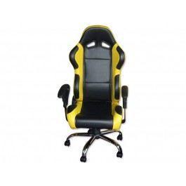 si ge baquet jaune et noir fauteuil de bureau achat. Black Bedroom Furniture Sets. Home Design Ideas