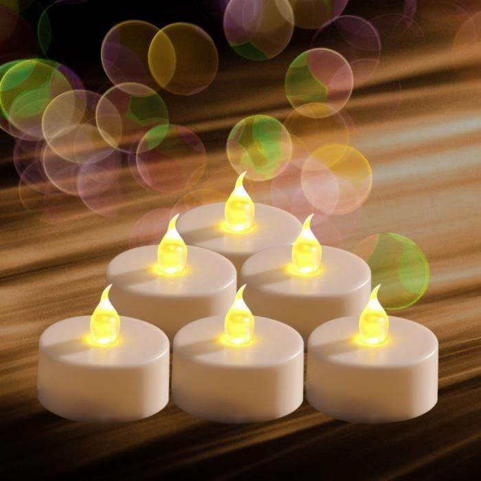 lot de 30 bougies chauffes plats a pile avec flamme led vacillante achat vente bougie. Black Bedroom Furniture Sets. Home Design Ideas