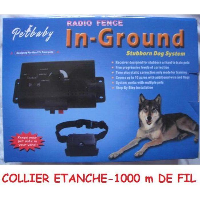 cloture electrique anti fugue chien etanche 1000 m achat. Black Bedroom Furniture Sets. Home Design Ideas