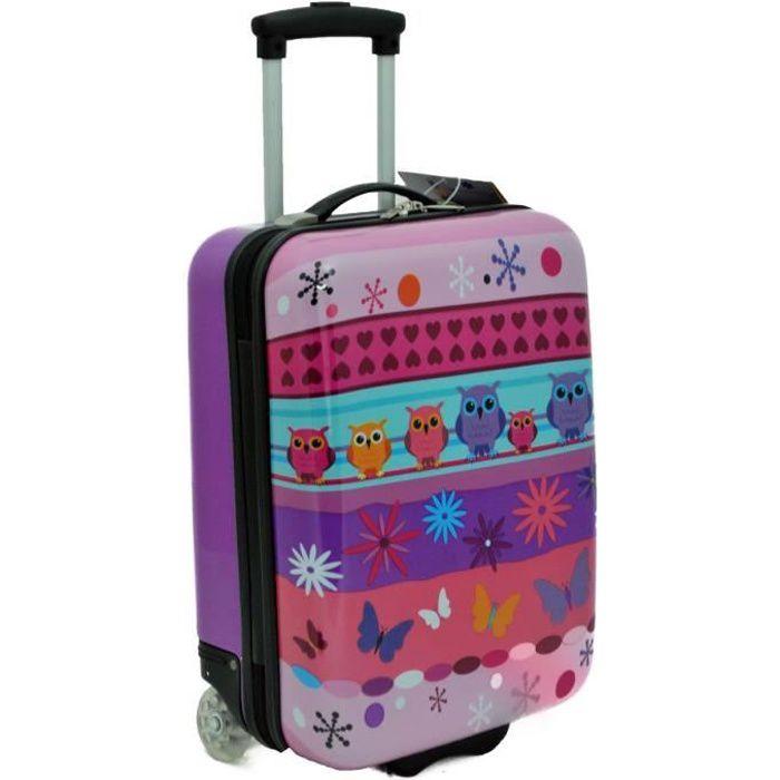 valise enfant chouette violet 50 cm 2 roues de la marque snowball violet violet achat. Black Bedroom Furniture Sets. Home Design Ideas