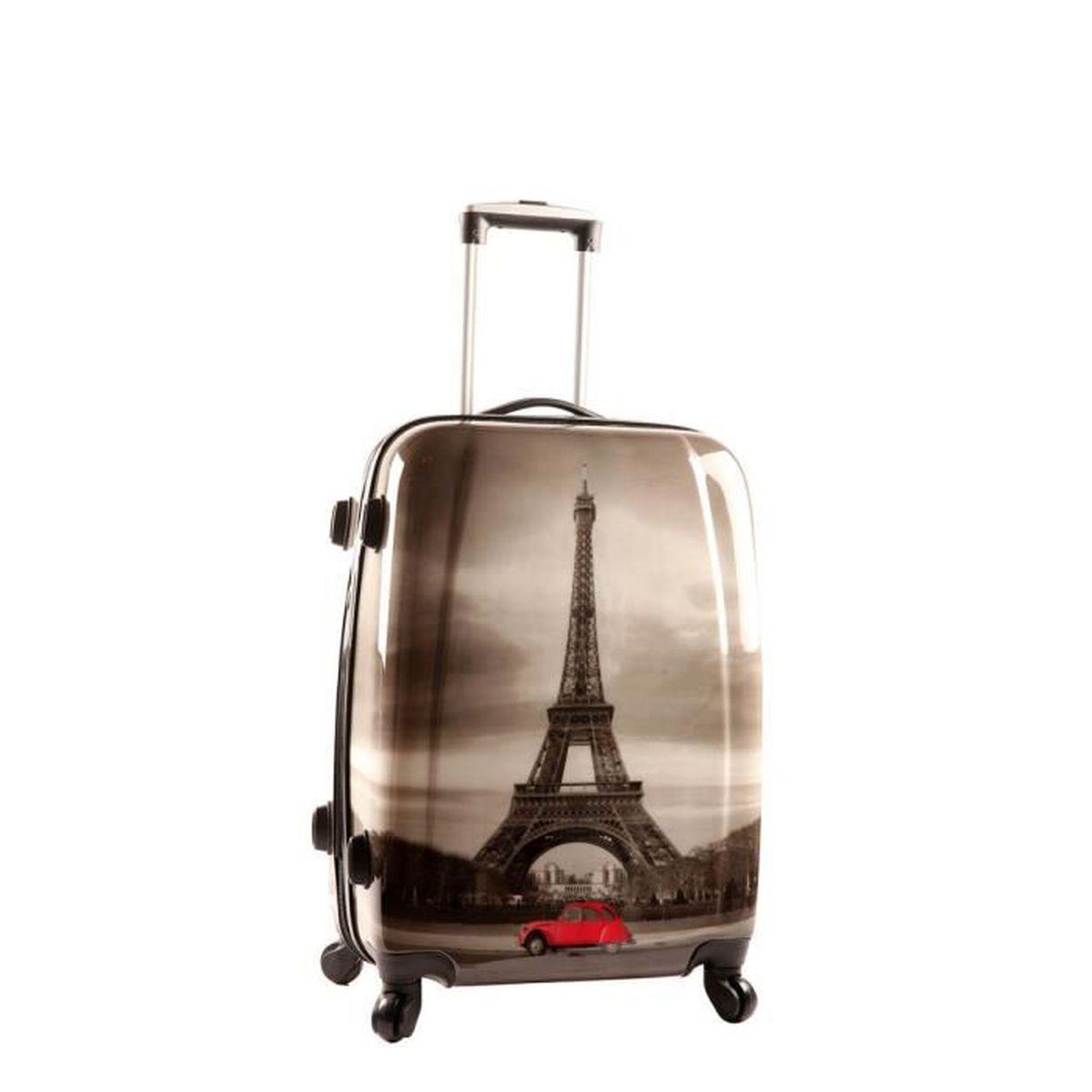 valise cabine madisson tour eiffel 55 cm 55 h x 36 l x 20 e cm motif achat vente. Black Bedroom Furniture Sets. Home Design Ideas