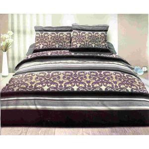 housse de couette 240x260 couleur taupe achat vente housse de couette 240x260 couleur taupe. Black Bedroom Furniture Sets. Home Design Ideas