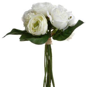 Hortensia artificiel blanc achat vente hortensia for Prix bouquet de fleurs