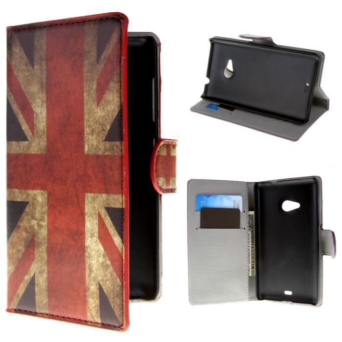 Pour microsoft lumia 535 coque tui housse drapeau anglais for Housse en anglais