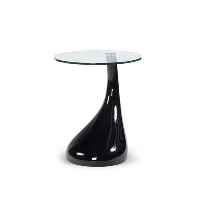 Table d 39 appoint design snoopy noir achat vente table d for Table d appoint noir