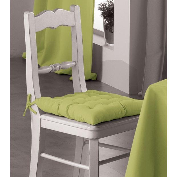 Assise de chaise essentiel vert anis achat vente coussin de chaise cdiscount for Assise de chaise