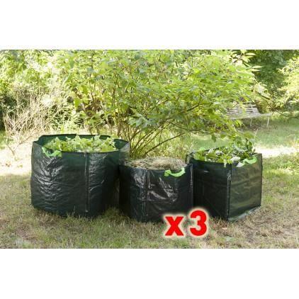 sac de jardin carr lot de 3 achat vente sac. Black Bedroom Furniture Sets. Home Design Ideas