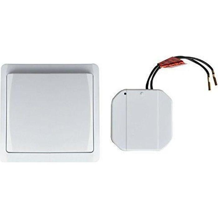 Tibelec 624710 kit interrupteur va et vient sans fil achat vente interrupteur cdiscount - Interrupteur sans fil va et vient ...