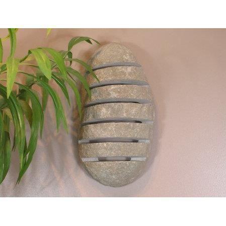 applique murale lampe de jardin en pierre galet achat vente applique murale lampe de ja. Black Bedroom Furniture Sets. Home Design Ideas