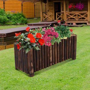 Jardiniere bois rectangulaire achat vente jardiniere bois rectangulaire pas cher cdiscount - Jardiniere bois pas cher ...