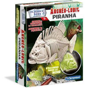 EXPÉRIENCE SCIENTIFIQUE CLEMENTONI Archéo Ludic Piranha - Phosphorescent