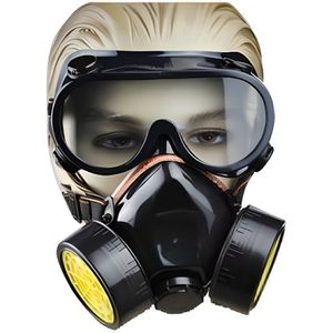 MASQUE - LUNETTE TRIXES Protection de peintre 2 pièces masque respi