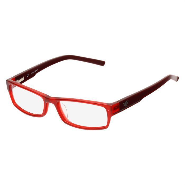 police monture de lunettes de vue mixte rouge achat vente lunettes de vue police monture de. Black Bedroom Furniture Sets. Home Design Ideas