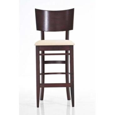 tabouret de bar en bois et tissu manuela achat vente tabouret de bar bois tissu cdiscount. Black Bedroom Furniture Sets. Home Design Ideas
