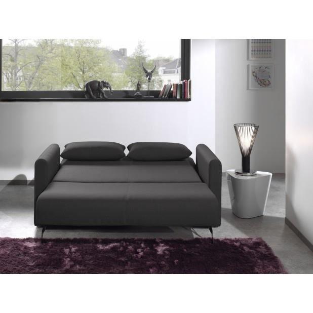 Canap Convertible Savanna Gris Fonc Achat Vente Canap Sofa Divan Cdiscount