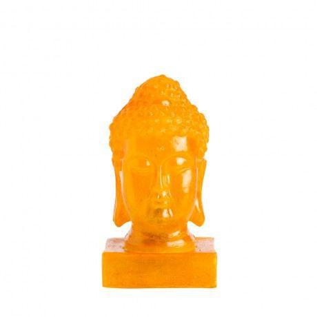 Lampe de table t te de buddha jaune achat vente for Lampe de table jaune