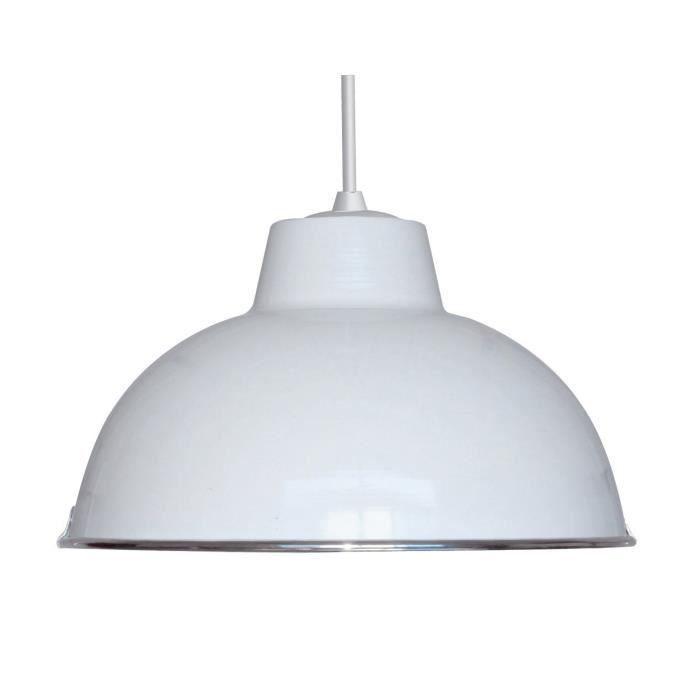 Luminaire lustre lampe lampadaire c creation 27203 achat for Luminaire suspension blanc